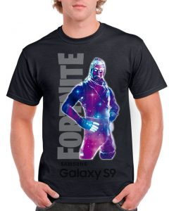 Playeras Fortnite GALAXY-note S9-playera-NEGRA-para-caballero