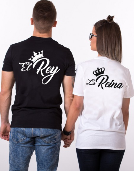 Playera King Queen el Rey y la Reyna
