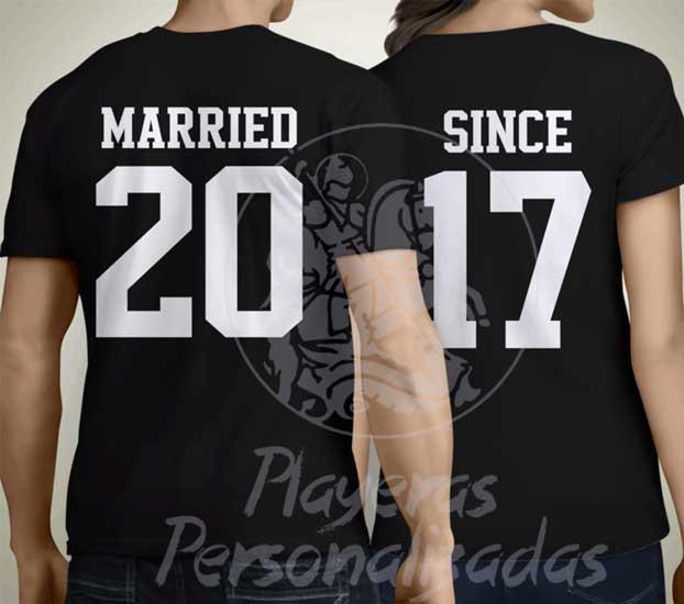 playera aniversario de casados