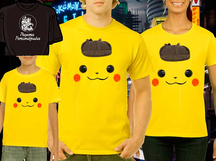 Playera familiar Detective Pikachu