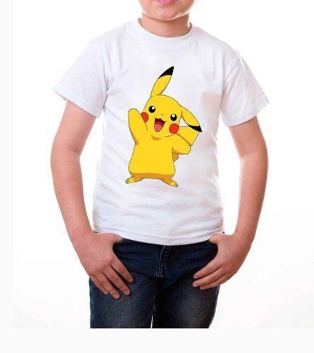 playera pikachu para niños