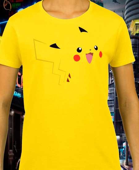 playeras DAMA detective pikachu